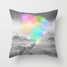 The Echoes of Silence Throw Pillow