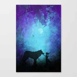 Wolf Whisperer Canvas Print