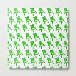 everybody loves froggy chair pattern  Metal Print