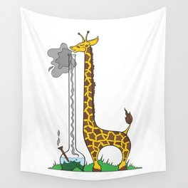 Long Long Giraffe Bong Wall Tapestry
