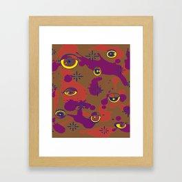 U-Watching Design  Framed Art Print
