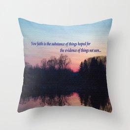 Chasing the Sun at Sunset  Throw Pillow