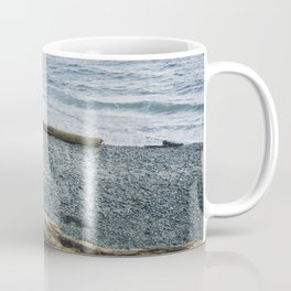 Pup on a beach Coffee Mug