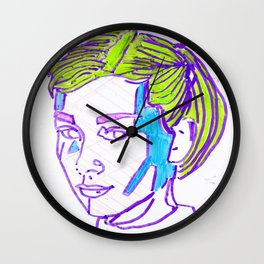 Stained Glass Hepburn Wall Clock