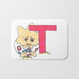T is for togepi Bath Mat