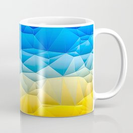 Sunshine and Blue Sky Quilted Abstract Coffee Mug