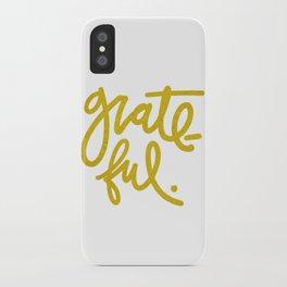 Grateful in Gold iPhone Case