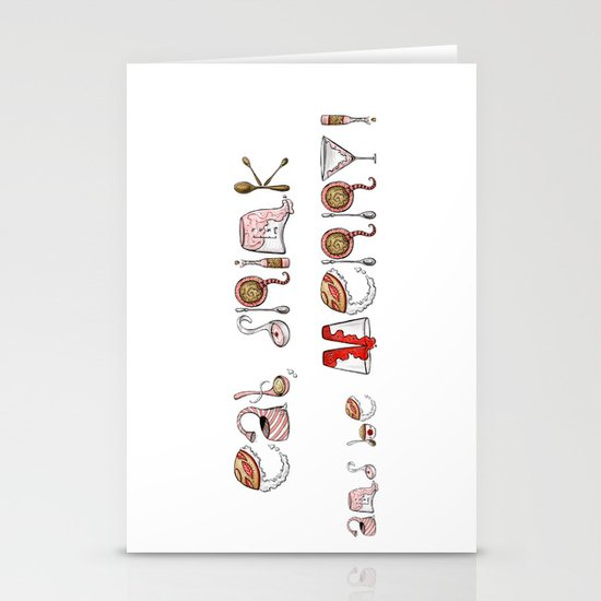 Eat Drink and be Merry! Stationery Cards