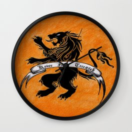 Amazon Etruria's orange flag Wall Clock