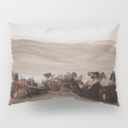 Camels in the Negev desert, Israel Pillow Sham