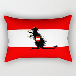 Australia - Kangaroo on Austrian Flag Rectangular Pillow