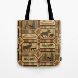 Moose Cabin Tote Bag