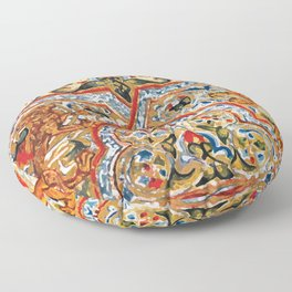 old motives / colorful / Armenian  Floor Pillow
