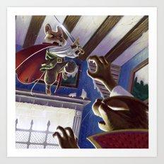 Jumping Slash Art Print