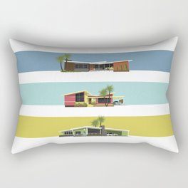 Mid Century Modern Houses 2 Rectangular Pillow