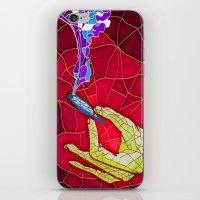 cannabis iPhone & iPod Skins featuring Cannabis vitraux by rodrigo valdes