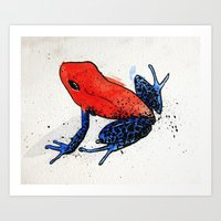 frog Art Prints featuring Frog by Jacob Haynes