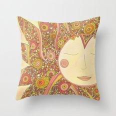 Even the Sun Needs a Nap Throw Pillow