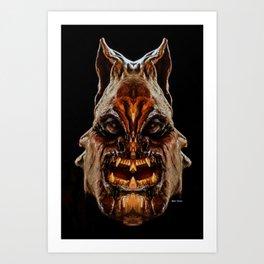 Halloween Mask 01218 Art Print
