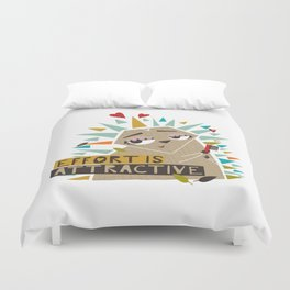 The attractive hedgehog Duvet Cover