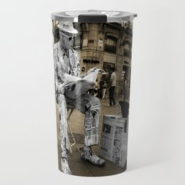 Newspaper Man Travel Mug
