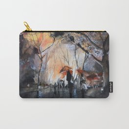 Watercolor painting - Autumn rain - Carry-All Pouch