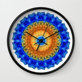 Third Eye Mandala Art by Sharon Cummings Wall Clock