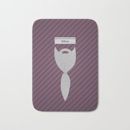 Albus (Famous mustaches and beards) Bath Mat