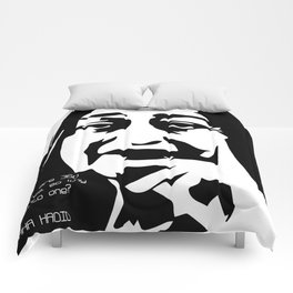 Zaha Hadid Quote Comforters