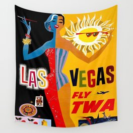 Lady Las Vegas Wall Tapestry