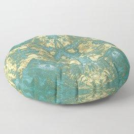 Blue Gold Floor Pillow