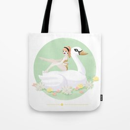Summer Pool Party - White Swan Float F Tote Bag