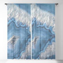 Blue agate 3064 Sheer Curtain