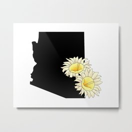 Arizona Silhouette Metal Print