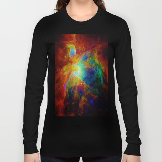 Orion NEBula  : Colorful Galaxy Long Sleeve T-shirt