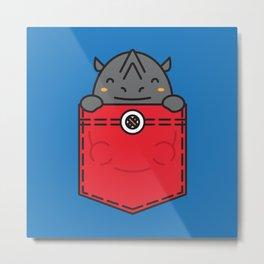 Pocket Rhino Metal Print