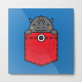 Pocket Rhino Metal Print
