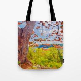 Fire Tree - Digital Manipulation Tote Bag