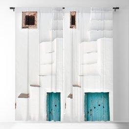Minimalist Greek Architecture, Sifnos island Blackout Curtain