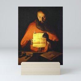 Georges de La Tour - Saint Jerome reading Mini Art Print