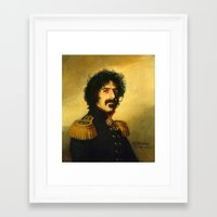 replaceface Framed Art Prints featuring Frank Zappa - replaceface by replaceface