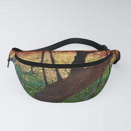 Flowering Plum Orchard (after Hiroshige) Japanese Motif by Vincent van Gogh Fanny Pack