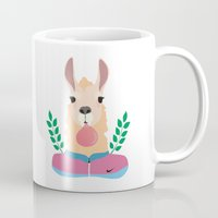 lama Mugs featuring Sport Lama by Holanes