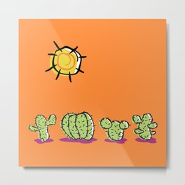 Cacti In The Arizona Desert Sun Metal Print