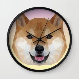 Shiba Inu Polygon Wall Clock