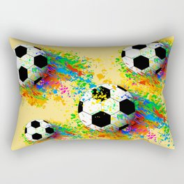 Football soccer sports colorful graphic design Rectangular Pillow
