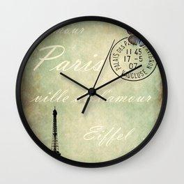J'aime la France Wall Clock