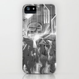 Rainy day in the city. iPhone Case