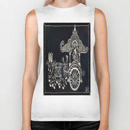 'The Chariot' Wood Work Biker Tank