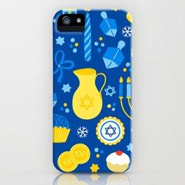 Hanukkah Holidays Joyous Pattern iPhone Case
